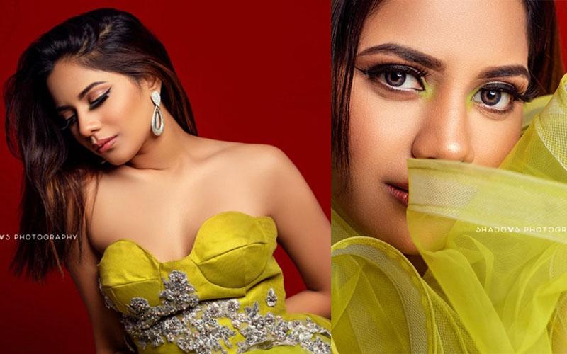 Aishwarya Dutta green photoshoot pics