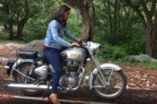 shraddha rides a bullet