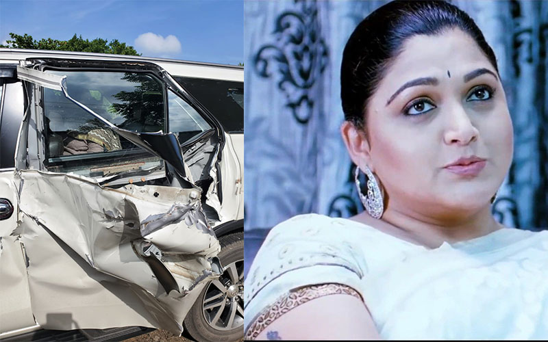 Khushbu escapes unhurt in major accident